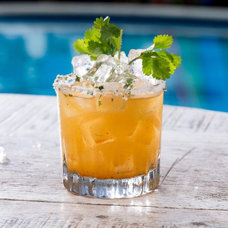 Smokey Cilantro Coriander Paloma Tequila cocktail drink summer