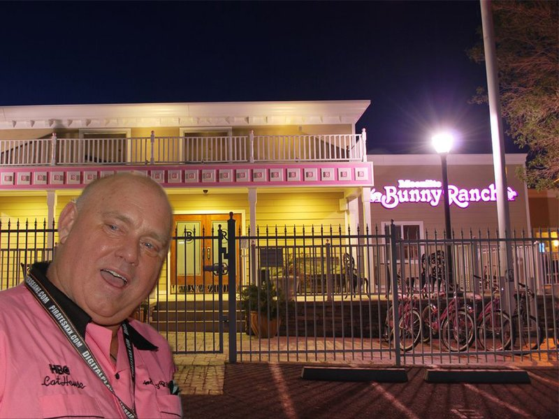 Dennis Hof over the Moonlite Bunny Ranch.