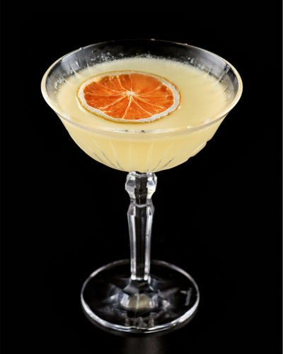 Citrus Tranquilo Tequila St Germain Yellow Chartreuse Gum Syrup In coupe