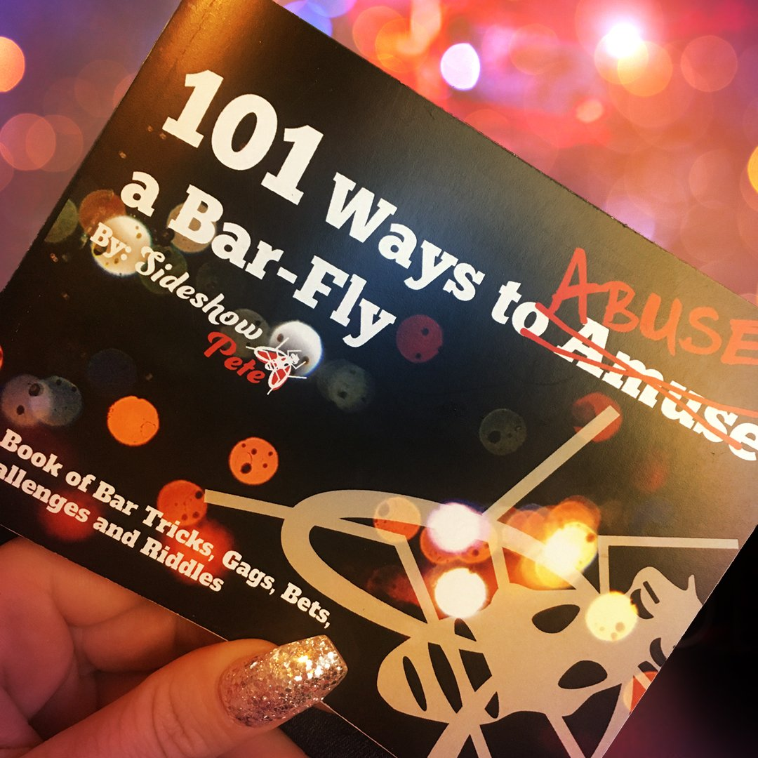 101 Ways to Amuse Abuse a bar-fly bar trick book