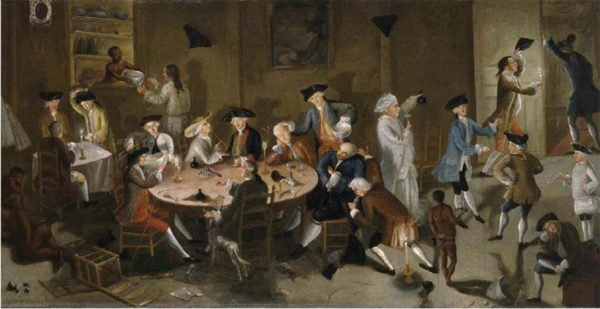 Painting of punch drinkers How To Make An Amazing Party Punch Wikimedia Commons